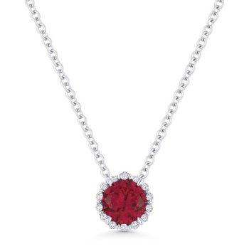 Ruby Birthstone Pendant