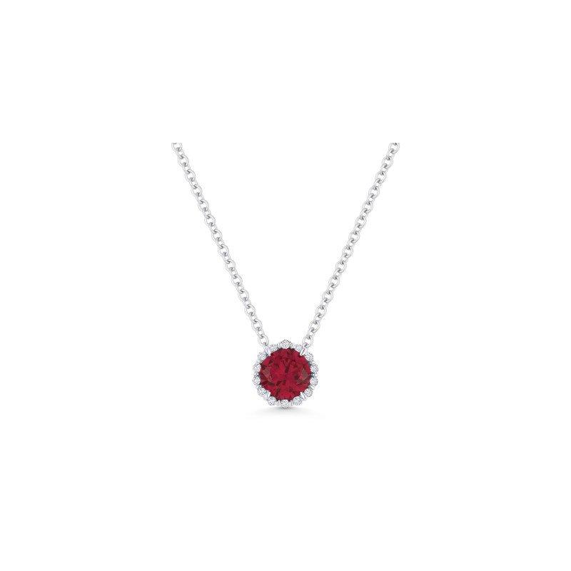 Lasker Gemstone Ruby Birthstone Pendant
