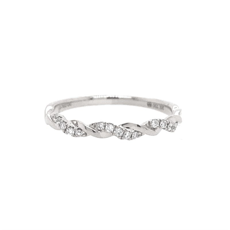 Lasker Bridal Twisted Stackable Diamond Band