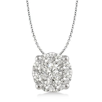Lovebright Solitaire Pendant .50cttw