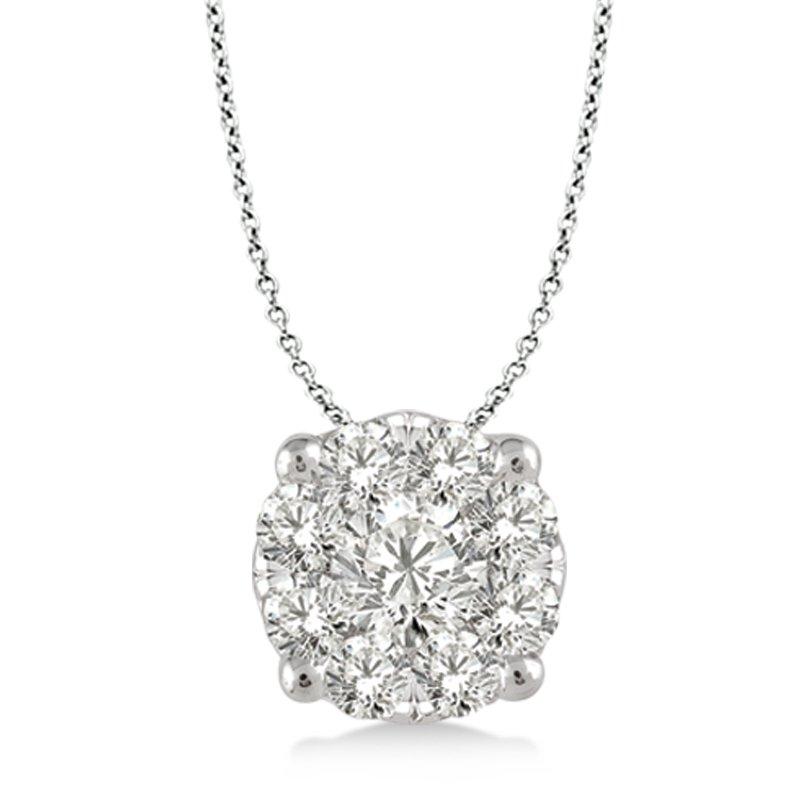 Lasker Diamond Fashion Lovebright Solitaire Pendant .50cttw