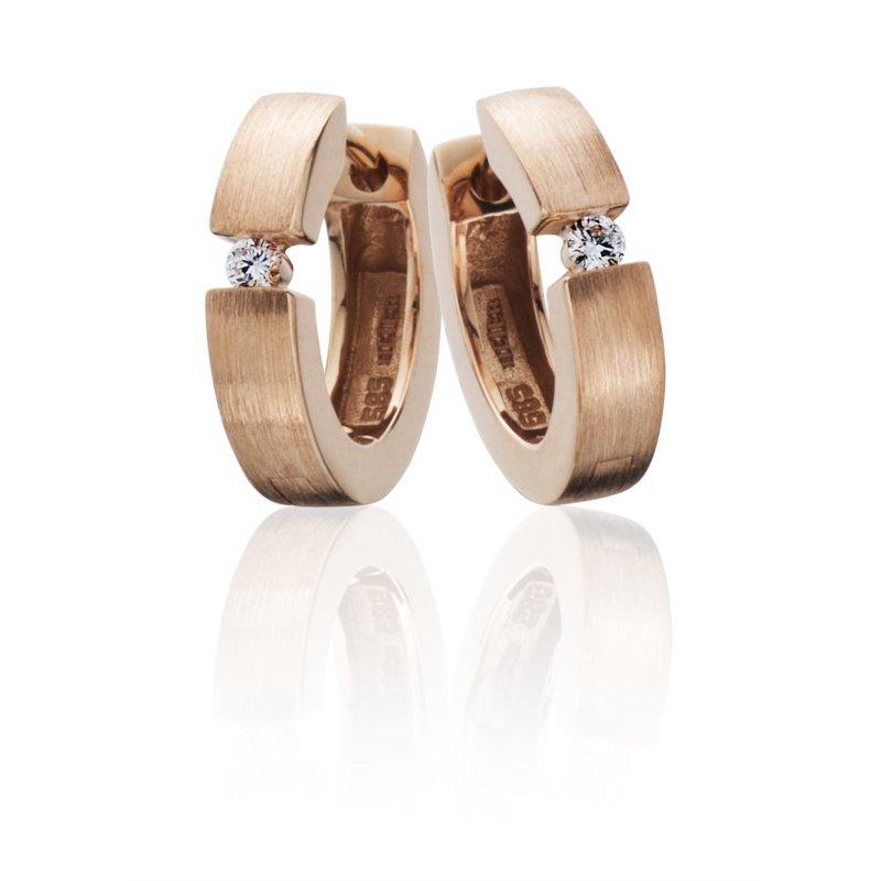 Lasker Diamond Fashion 14X3mm Diamond Huggies