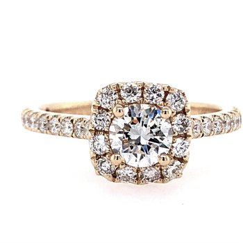 Selena Halo Ring - .40ct Center Diamond