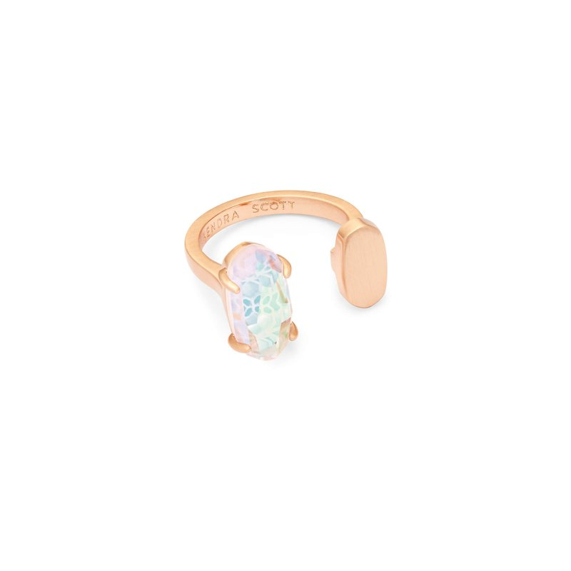 Kendra Scott PRYDE OPEN RING IN BLUSH DICHROIC GLASS