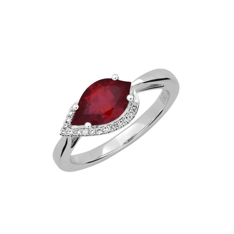 Lasker Gemstone Chatham Ruby Ring