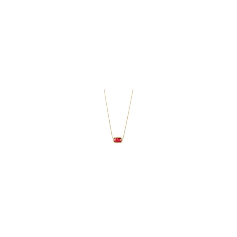 Kendra Scott Elisa Gold Pendant Necklace in Red Mother-of-Pearl