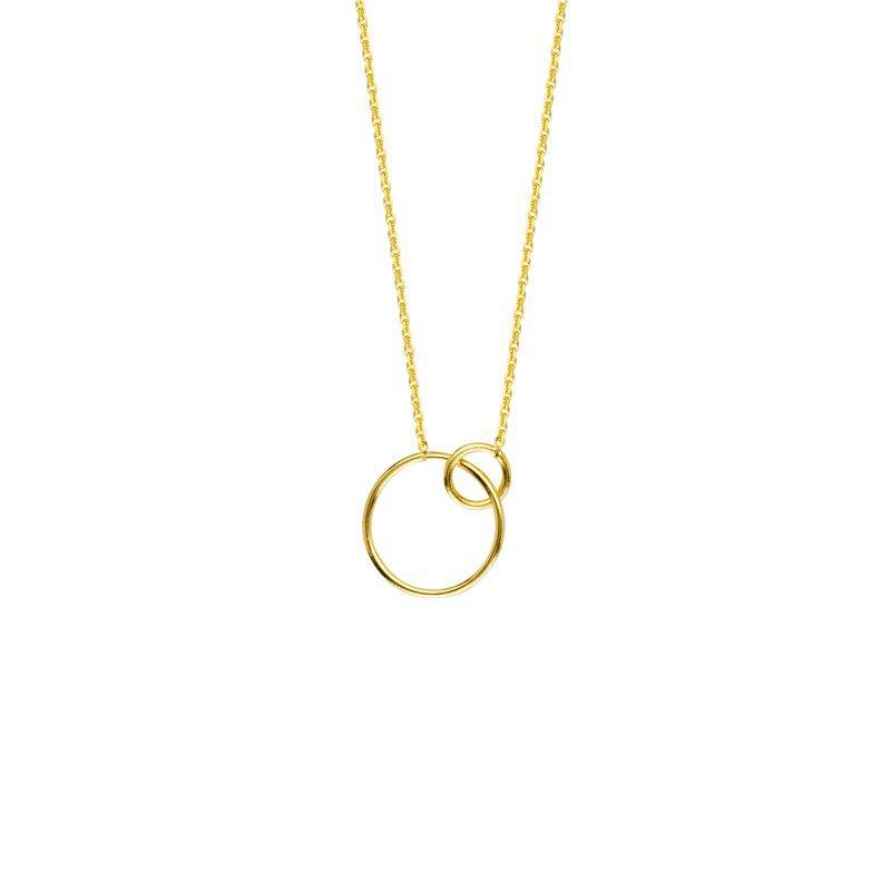 Lasker Gold Fashion Interlocking Rings Necklace