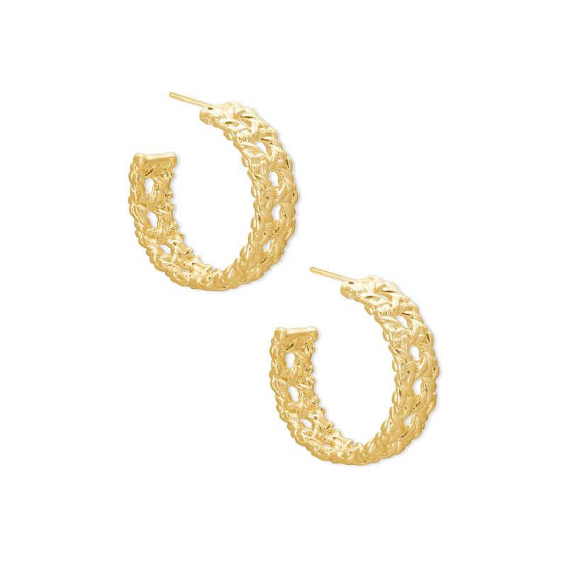 Kendra Scott Natalie Gold Hoop Earrings In Gold
