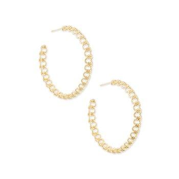 Fallyn Hoop Earrings In Gold