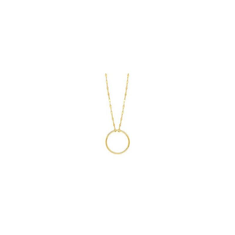 Lasker Gold Fashion Gold Circle on Piatto Chain