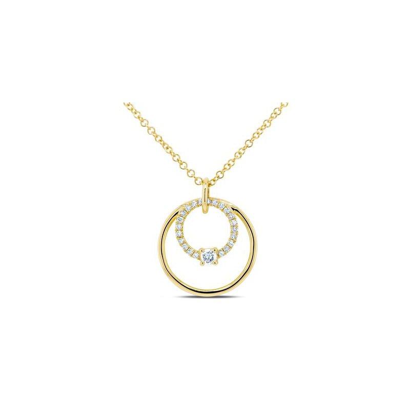Lasker Diamond Fashion Double Circle Diamond Pendant