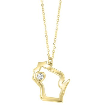 Heart of Wisconsin Pendant - 14Kt Yellow Gold