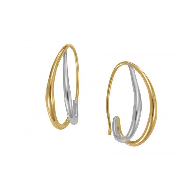 E.L. Designs Duo Hoop Earrings