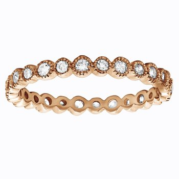 Ariana 2/3 Eternity Band - Rose Gold