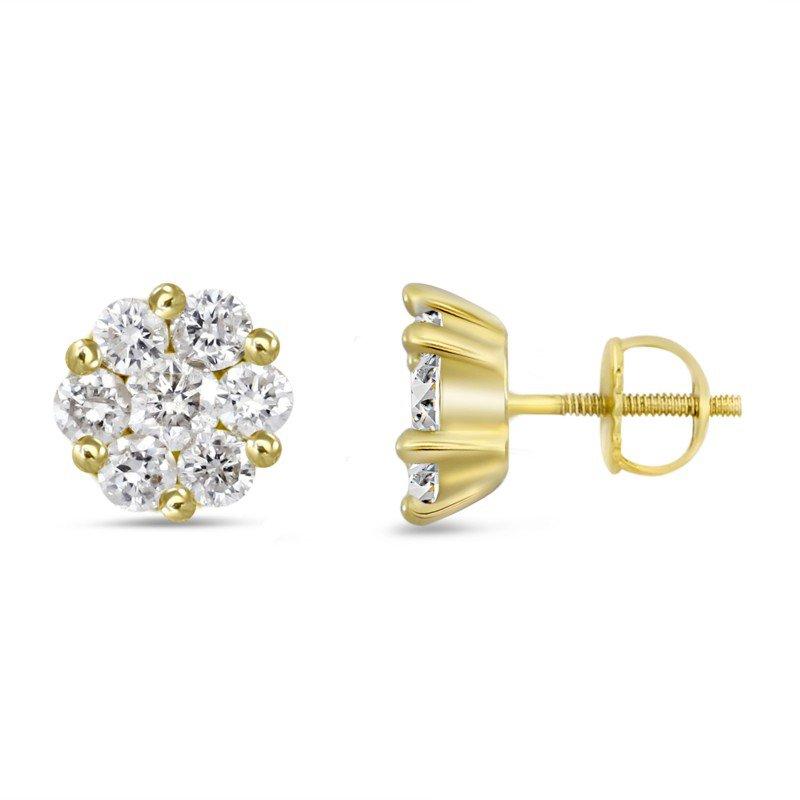Lasker Diamond Fashion Tiny Diamond Cluster Earrings