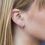 Lasker Gemstone Sapphire and Diamond Hoops