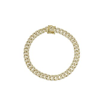 Miami Cuban Diamond Pave Link Chain Bracelet