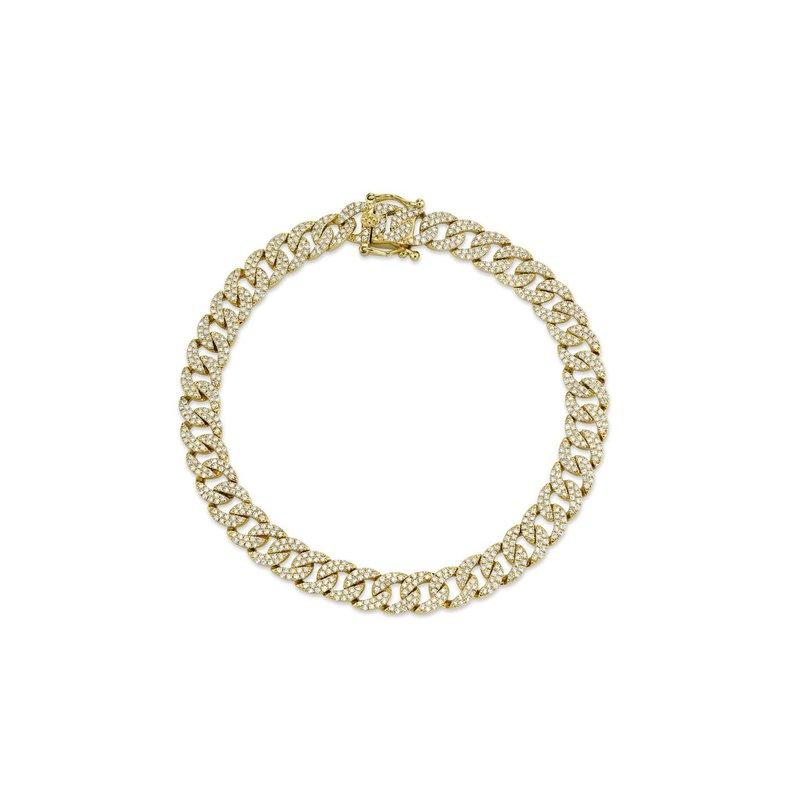 Lasker Diamond Fashion Miami Cuban Diamond Pave Link Chain Bracelet