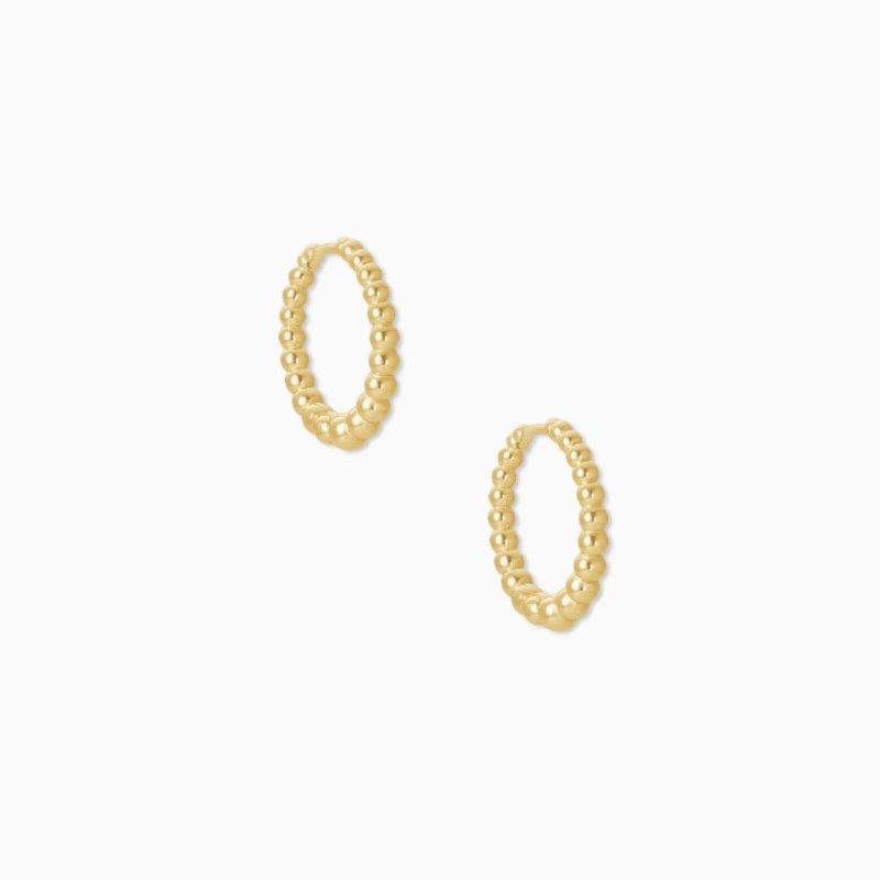 Kendra Scott Josie Huggie Earrings In Yellow