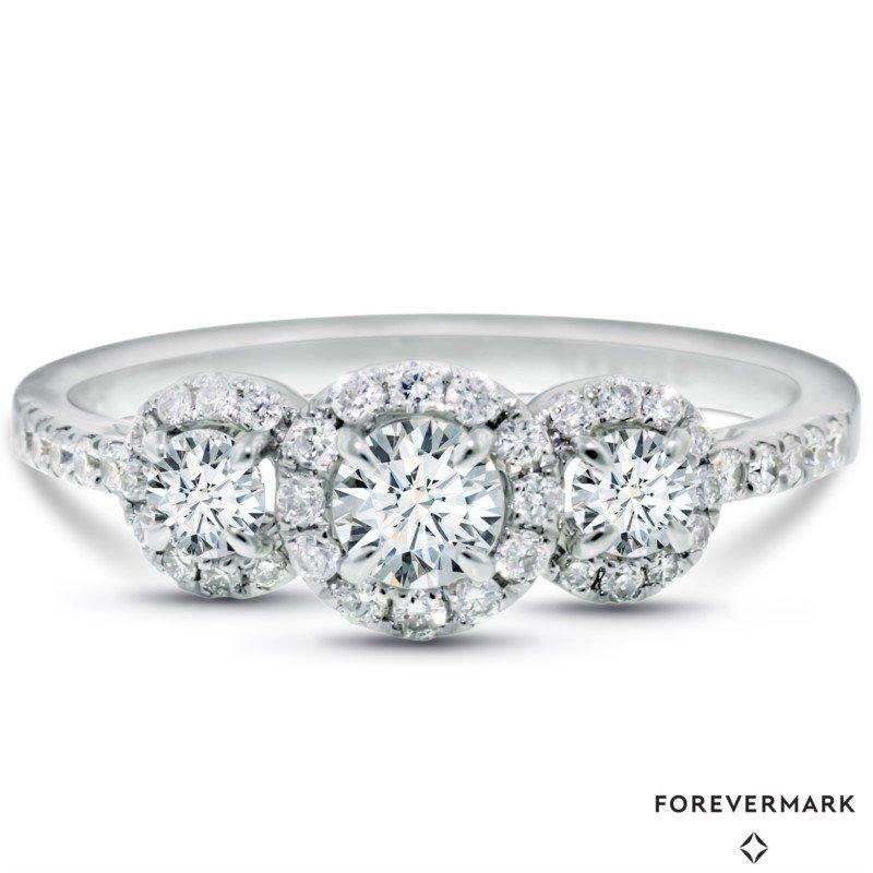Forevermark Center Of My World 3-Stone Ring - .95ctw