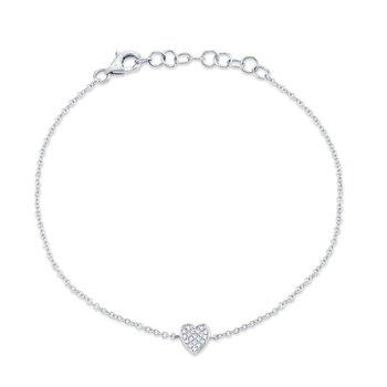 Full Heart Diamond Bracelet