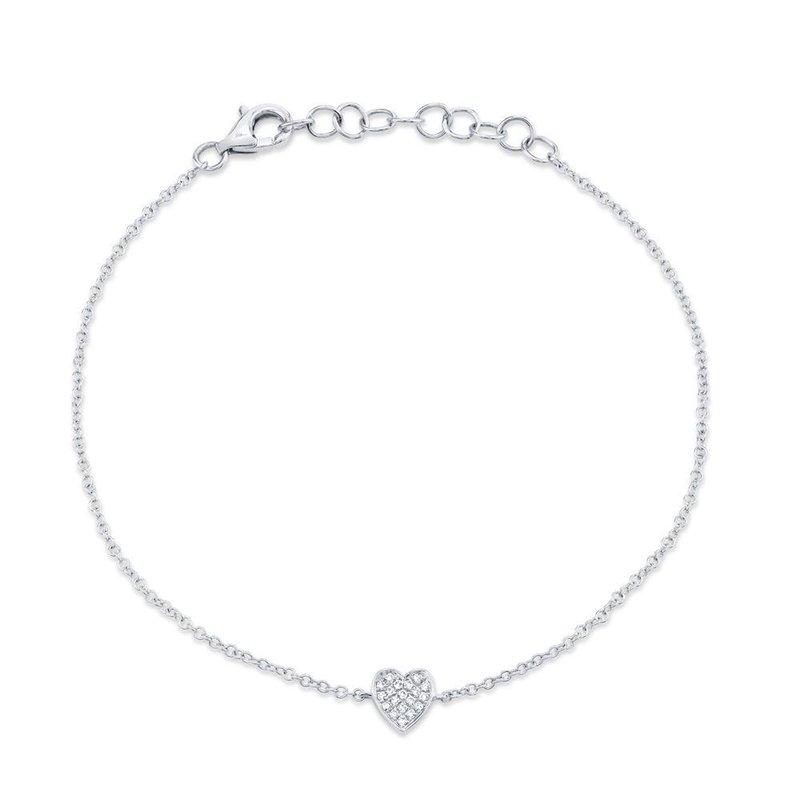 Lasker Diamond Fashion Full Heart Diamond Bracelet