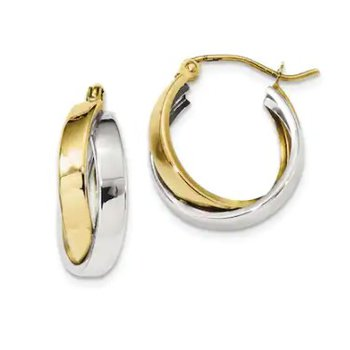 12mm Two-Tone Hoops