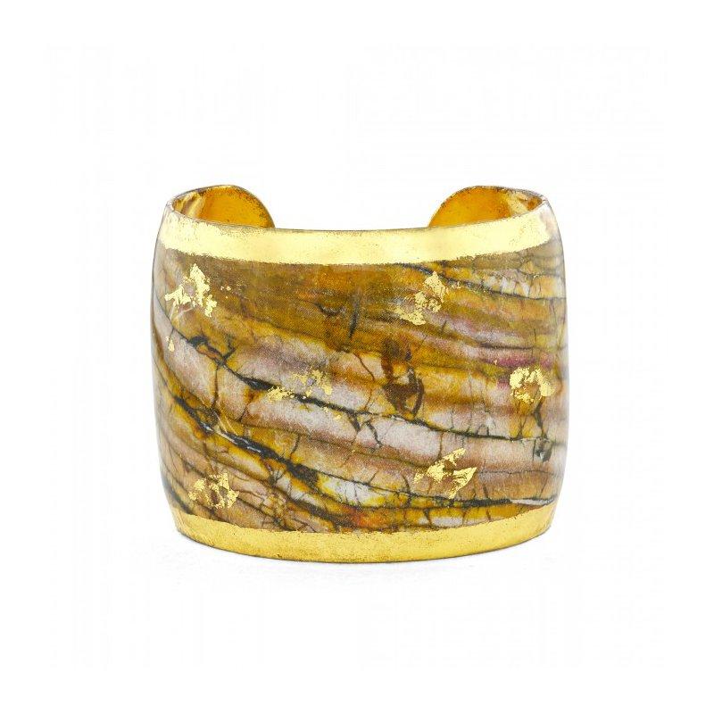 Evocateur Marble Bronze Cuff