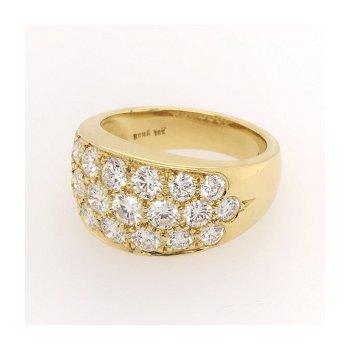 Large Diamond Pave Ring
