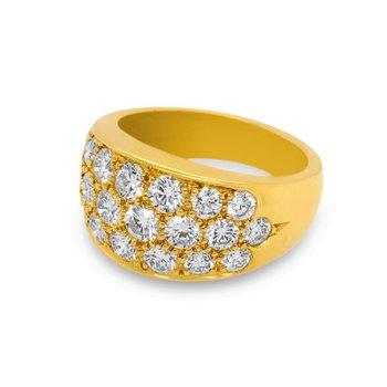 Large Diamond Pave Ring