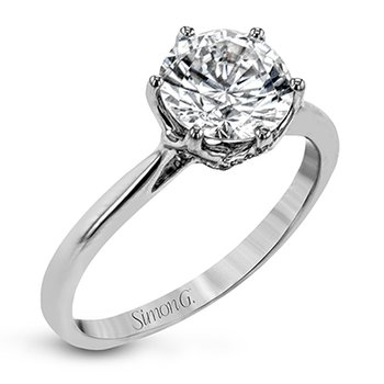Solitaire Six-Prong Engagement Ring Mounting
