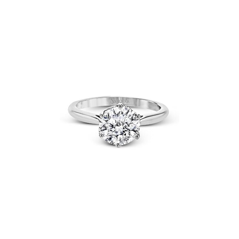 Simon G Solitaire Six-Prong Engagement Ring Mounting