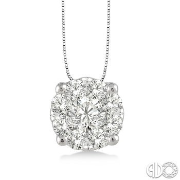 Lovebright Solitaire Pendant .12cttw