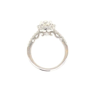 Beautiful Halo Ring With Designer Profile
