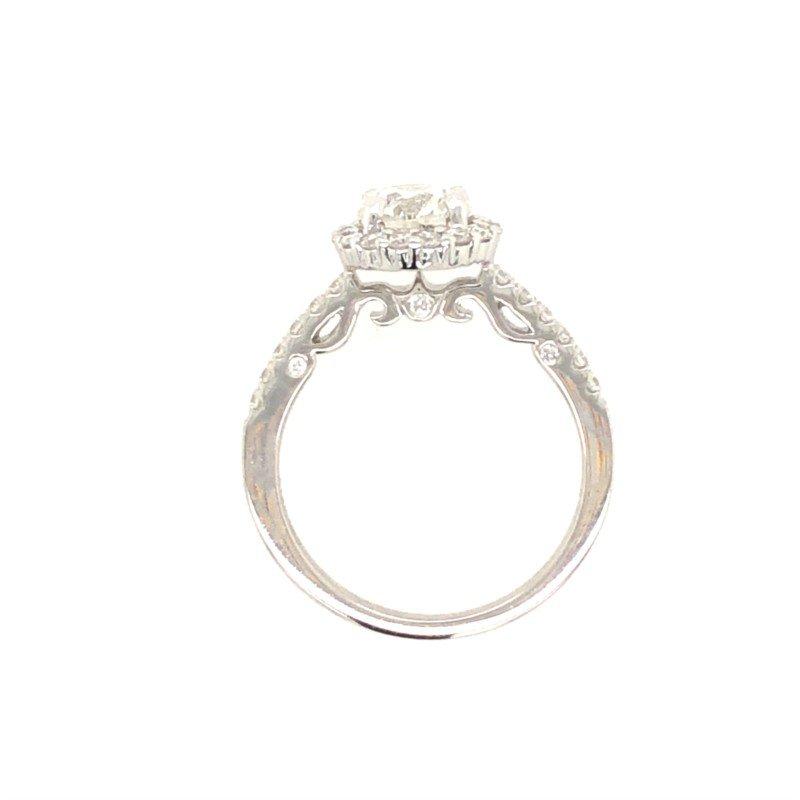 Lasker Bridal Beautiful Halo Ring With Designer Profile