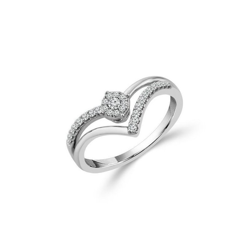 Lasker Diamond Fashion Double Chevron Ring