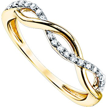 Infinity Weave Ring - Yellow Gold