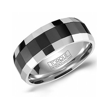 Tungsten & Ceramic Wedding Band