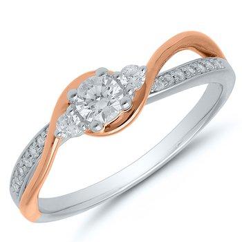 Past-Present-Future Diamond Ring