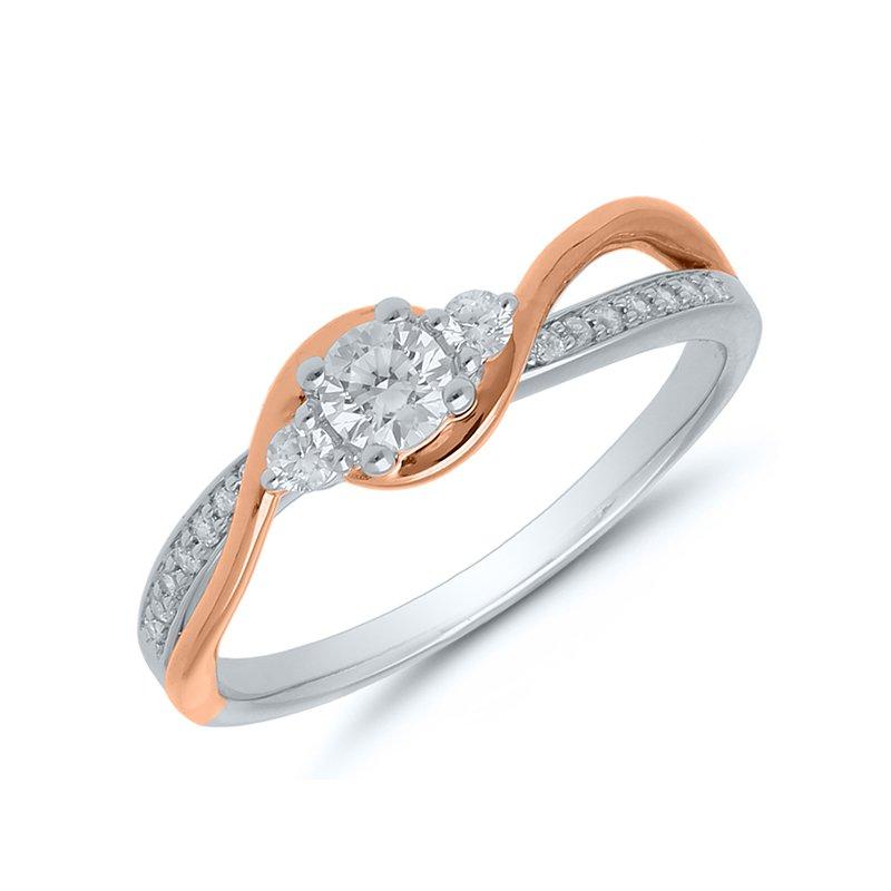 Lasker Bridal Past-Present-Future Diamond Ring