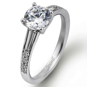 Contemporary Style Engagement Ring Mounting