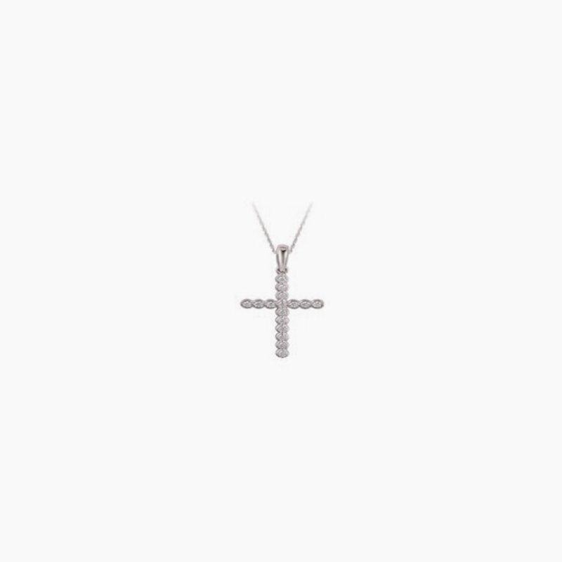Lasker Diamond Fashion Diamond Cross Pendant .10cttw