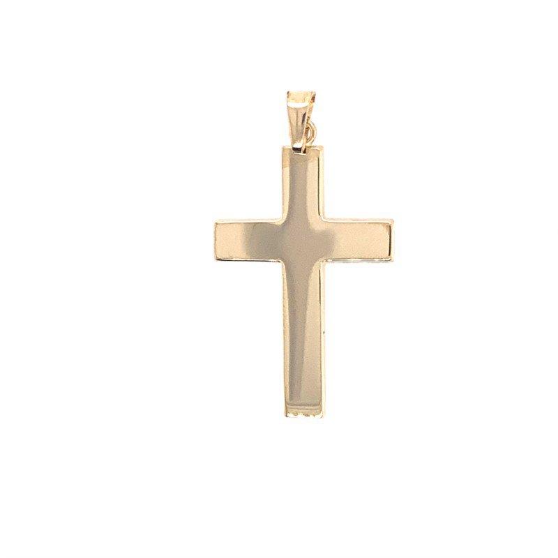 Lasker Gold Fashion Wide Yellow Gold Cross