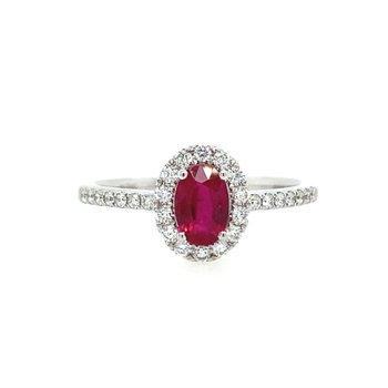 Center of my World Ruby Ring