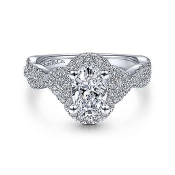 Stunning 1ct Oval Diamond Halo Ring