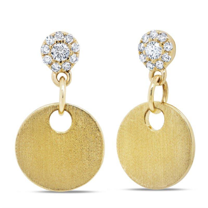 Lasker Diamond Fashion Dangle Disc Earrings with Diamonds