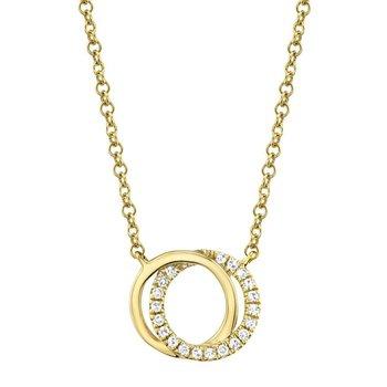 You & Me Interlocking Circle Pendant