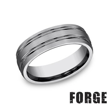 7MM DOUBLE CENTER CUT TUNGSTEN BAND