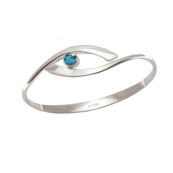 Swing Bracelet with Blue Topaz
