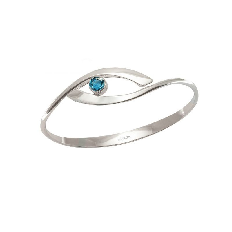 E.L. Designs Swing Bracelet with Blue Topaz